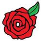 لوجو روز ارت للدعاية والاعلان وخامات وماكينات الدعاية والاعلان